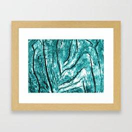 Driftwood Teal Framed Art Print