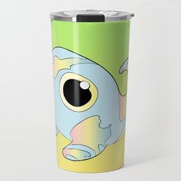 Pastel Rainbow Tadpole Monster Travel Mug