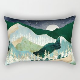 Spring Night Vista Rectangular Pillow