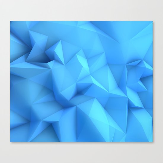 Pale Blue Geometric / Pale Blue Crystal / Geometric Pattern, Abstract Pattern, abstract ocean waves Canvas Print