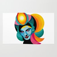 goddess Area & Throw Rugs featuring Goddess by Alvaro Tapia Hidalgo