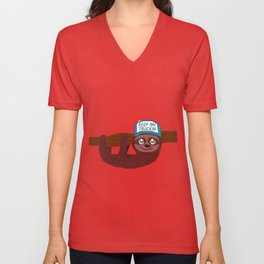 keep on truckin sloth Unisex V-Neck
