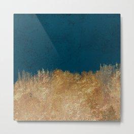 Denim Gold Paint Metal Print