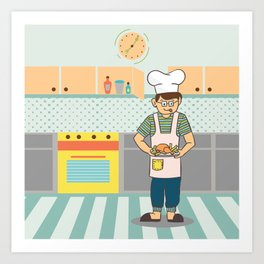Cooking Time Art Print