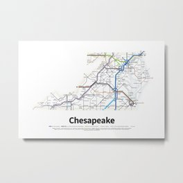Highways of the USA – Chesapeake Metal Print