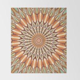 Heart of the Sunflower - Mandala Art Throw Blanket