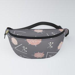 Mid Century Modern Sputnik Starburst Planets 7 Fanny Pack