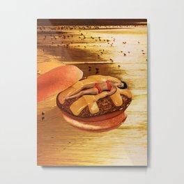Cheeseburger 8x10 Metal Print