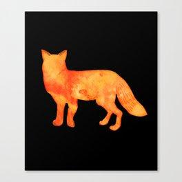 Fox in the dark Canvas Print