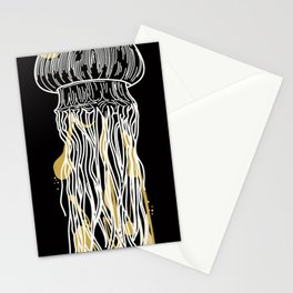 Electric Gold Jellyfish Uno Stationery Cards