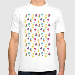 Ice cream pattern - light blue T-shirt