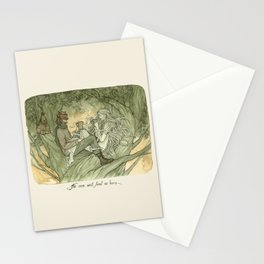 No one will find us here Stationery Cards