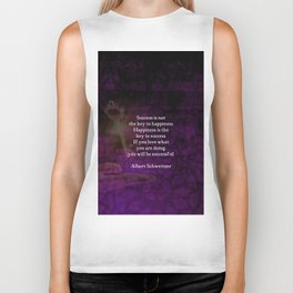 Happiness Is The Key To Success Uplifting Inspirational Quote Biker Tank