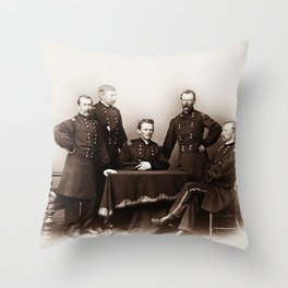 Philip Sheridan and General Custer - Civil War Cavalry Portrait Throw Pillow
