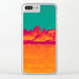 Scorched Earth Clear iPhone Case