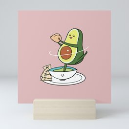 Together We Make a Perfect Hummus Mini Art Print