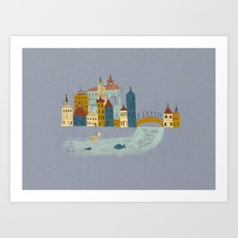 Small Village Art Print