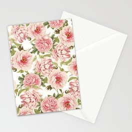 old fashioned peonies Stationery Cards