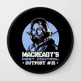 Macready's pest control Wall Clock