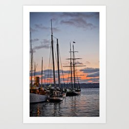 where the boats are Art Print