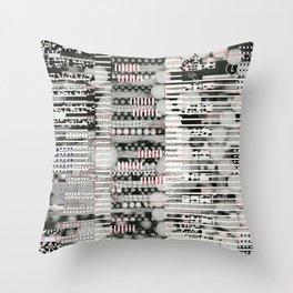 Vulnerability Commerce (P/D3 Glitch Collage Studies) Throw Pillow