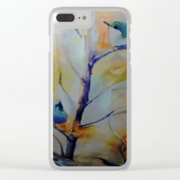 Unique Perspective Birdlife watercolor by CheyAnne Sexton Clear iPhone Case