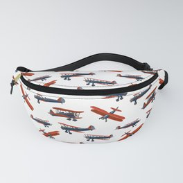 Red White and Blue Biplanes Fanny Pack