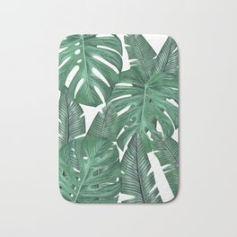 Tropical Leaves Art Print Bath Mat