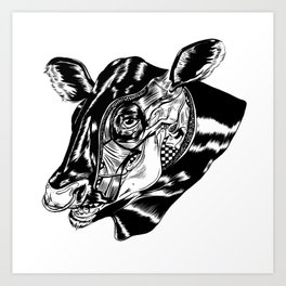 Cow Head Art Print