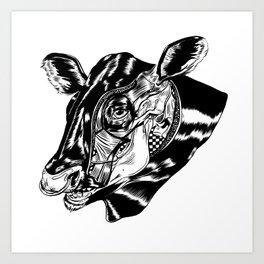 Cow Head Art Print