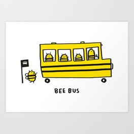 Bee Bus Art Print