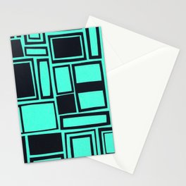 Windows & Frames - Teal Stationery Cards