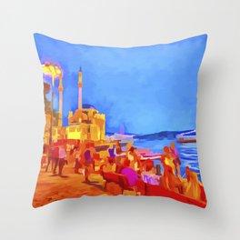 Istanbul Pop Art Throw Pillow