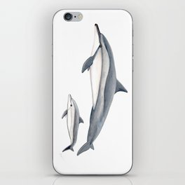 Long-beaked dolphin and baby iPhone Skin