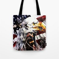 patriotic Tote Bags featuring PATRIOTIC TIMES by PERRY DAEZIOUH