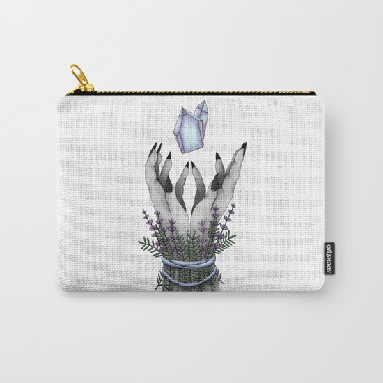 crystal hands colored Carry-All Pouch