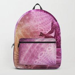Spiritual Yoga Meditation Zen Colorful Backpack