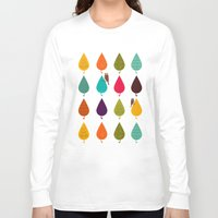 leaves Long Sleeve T-shirts featuring Leaves by Kakel