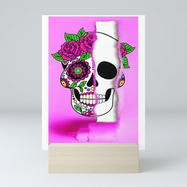 ripped facade Mini Art Print