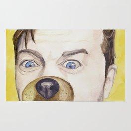 Misha Collins, watercolor painting Rug