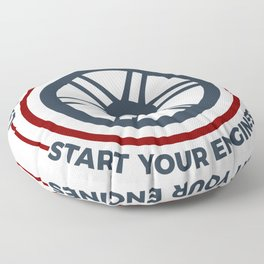 Racers Start Your Engines Racing Driving Competition Floor Pillow