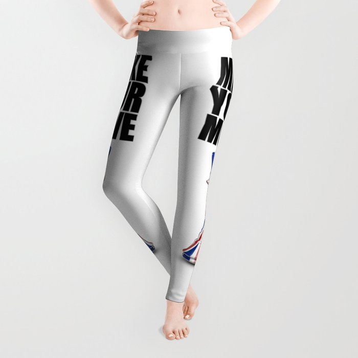 Make Your Move UK / 3D render of chess king with British flag Leggings