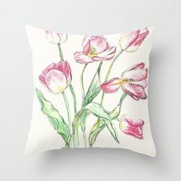 Triumph Tulips Throw Pillow