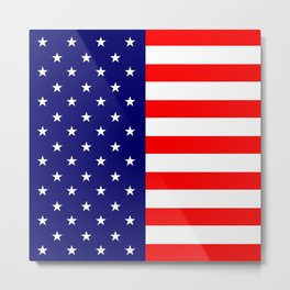 Stars and Stripes USA Metal Print