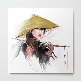 Vietnamese girl Metal Print