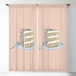 Sprinkle Party Cake Blackout Curtain