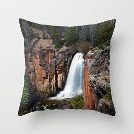 South Clear Creek Falls Throw Pillow
