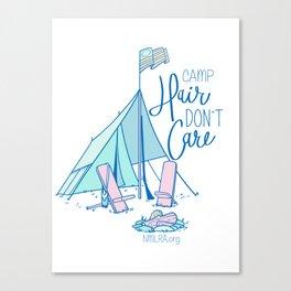 Camp Hair Don't Care Canvas Print