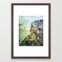 HIMALAYAN VILLAGE Framed Art Print