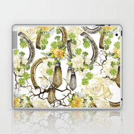 Watercolor horseshoes with roses Laptop & iPad Skin
